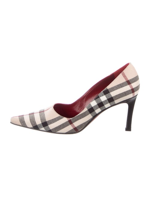 Burberry Nova Check Pattern Slingback Pumps