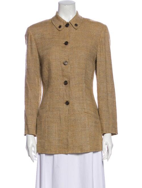 Burberry Vintage Linen Blazer Brown