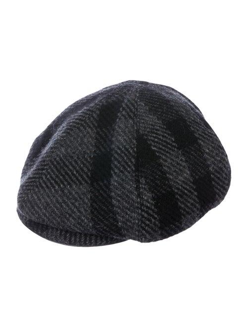 Burberry Wool Newsboy Hat black