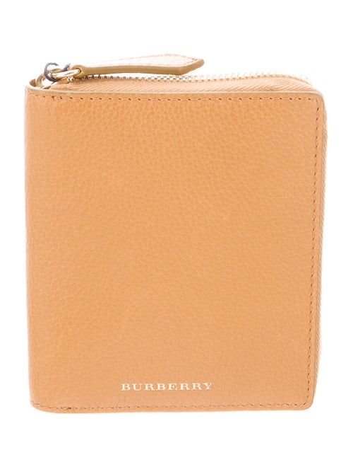 Burberry Leather Compact Wallet gold