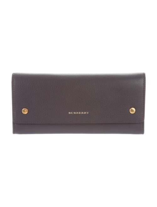 Burberry Leather Continental Wallet gold