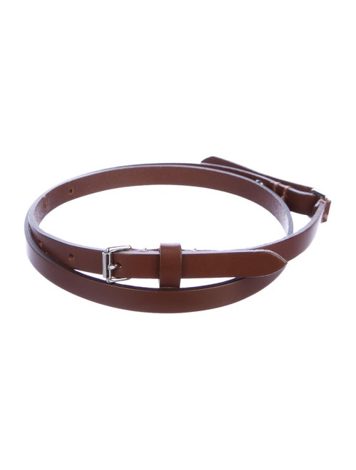 Burberry Skinny Leather Belt Brown