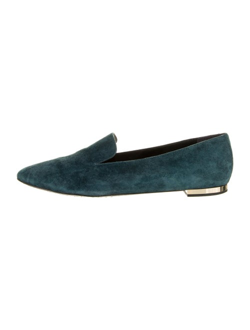 Burberry Suede Loafers Blue