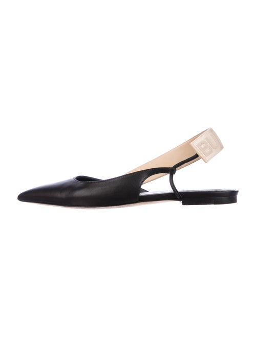 Burberry Leather Slingback Flats Black
