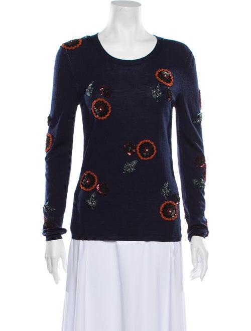 Burberry Wool Printed Sweater Wool - image 1