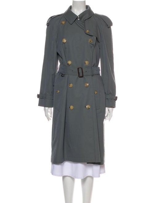 Burberry Leamington Trench Coat Blue