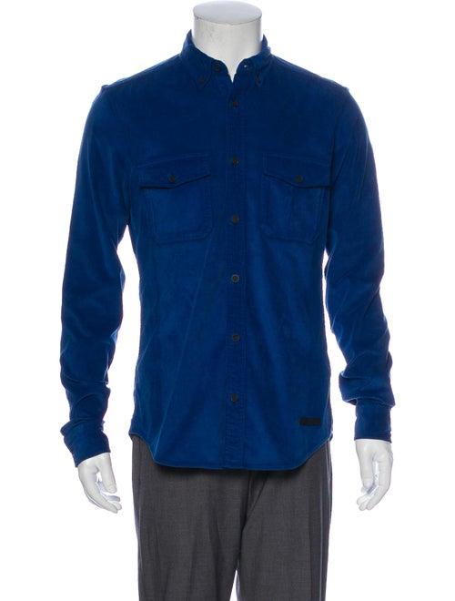 Burberry Corduroy Long Sleeve Shirt Blue