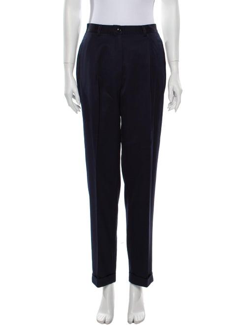 Burberry Vintage Straight Leg Pants Blue