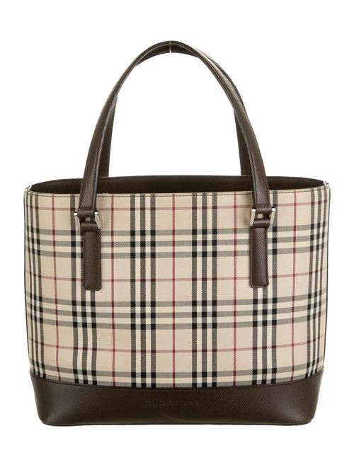 Burberry Small Nova Check Tote Tan