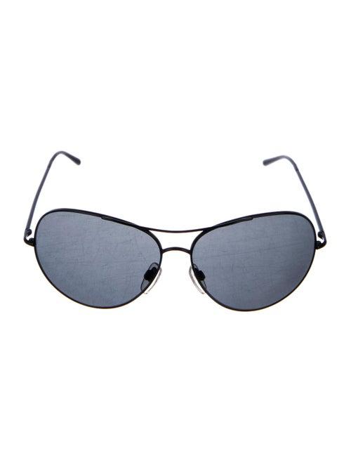 Burberry Tinted Aviator Sunglasses Black