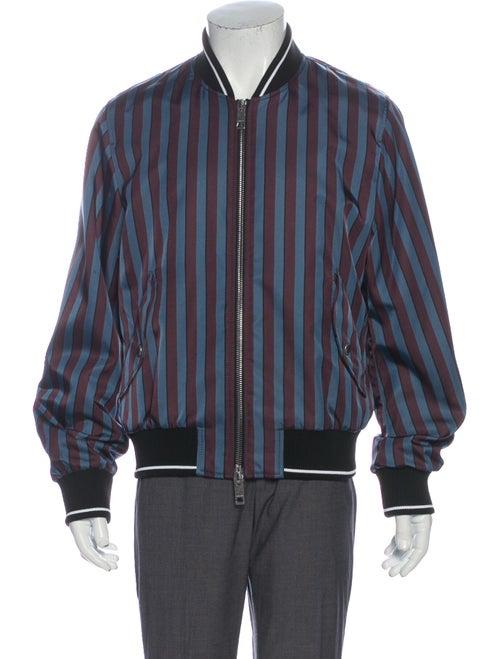 Burberry Striped Bomber Jacket Blue
