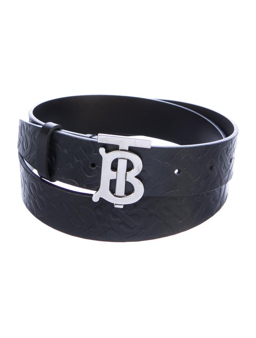 Burberry Embossed Leather Belt black