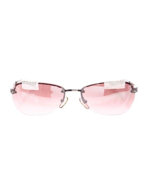 Burberry Rimless Reflecive Sunglasses Silver