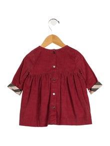 Burberry Girls' Corduroy Long Sleeve Dress