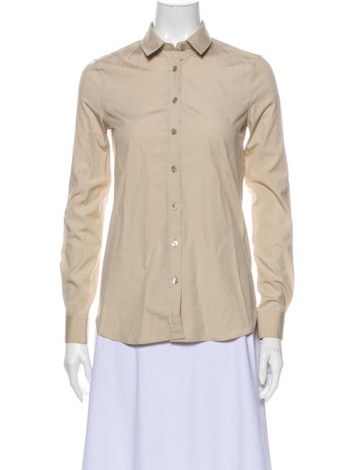 Burberry Long Sleeve Button-Up Top