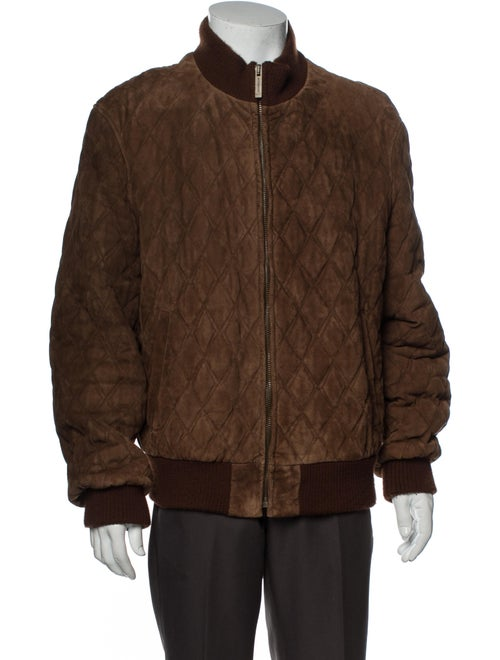 Burberry Quilted Suede Bomber Jacket Suede Bomber