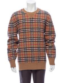 Burberry Nova Check Pattern Cashmere Pullover