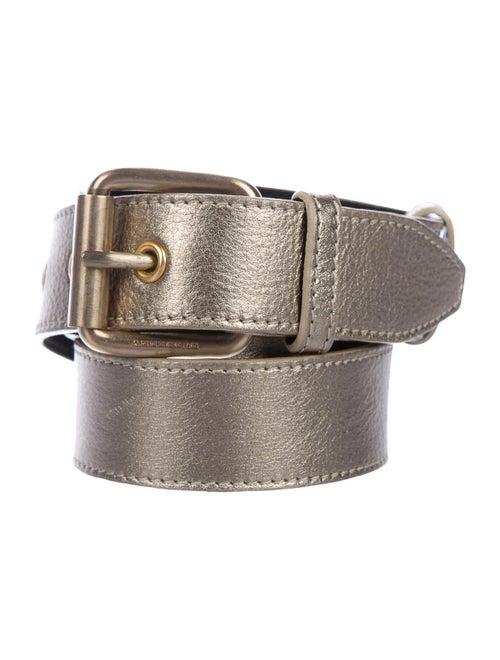 Burberry Metallic Leather Belt Metallic