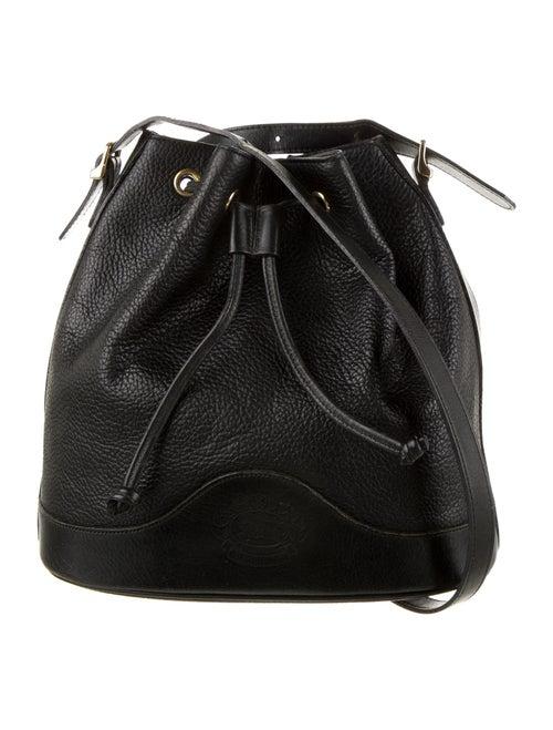 Burberry Vintage Leather Bucket Bag Black