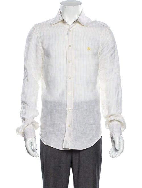 Burberry Linen Striped Shirt Yellow