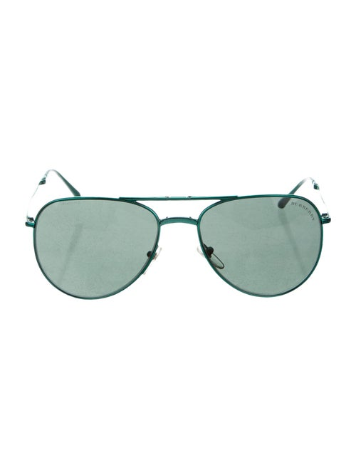 Burberry Aviator Tinted Sunglasses green