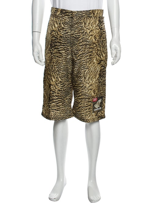 Burberry Animal Print Athletic Shorts