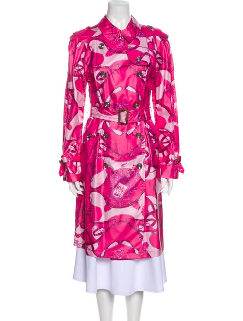 Burberry Printed Trench Coat Pink