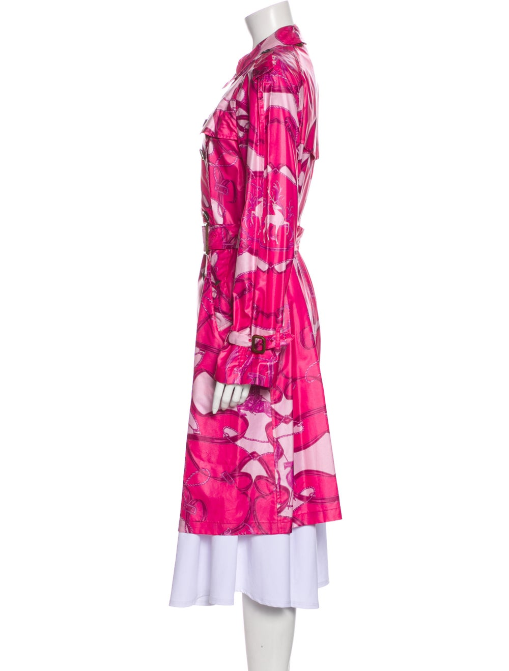 Burberry Printed Trench Coat Pink - image 2