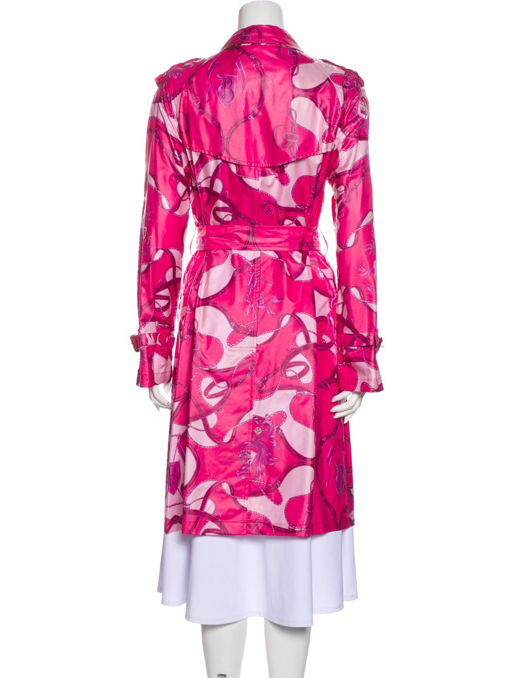 Burberry Printed Trench Coat Pink - image 3