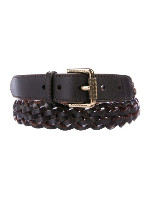 Burberry Leather Belt Brown