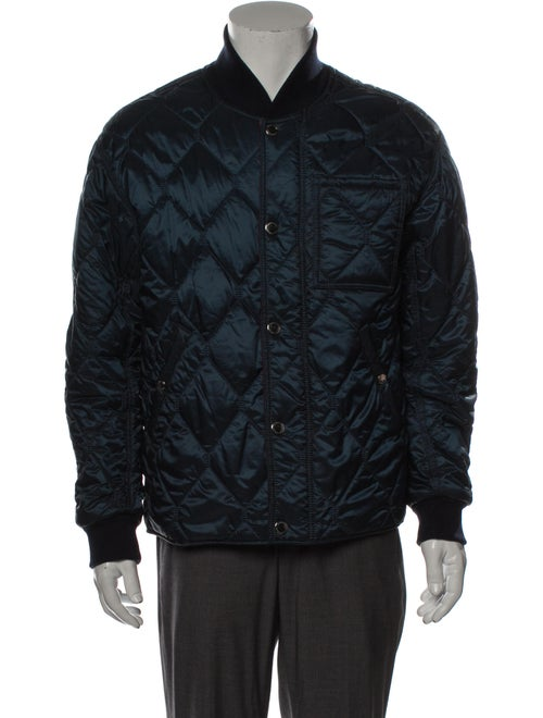 Burberry Wool-Lined Bomber Bomber Jacket Wool