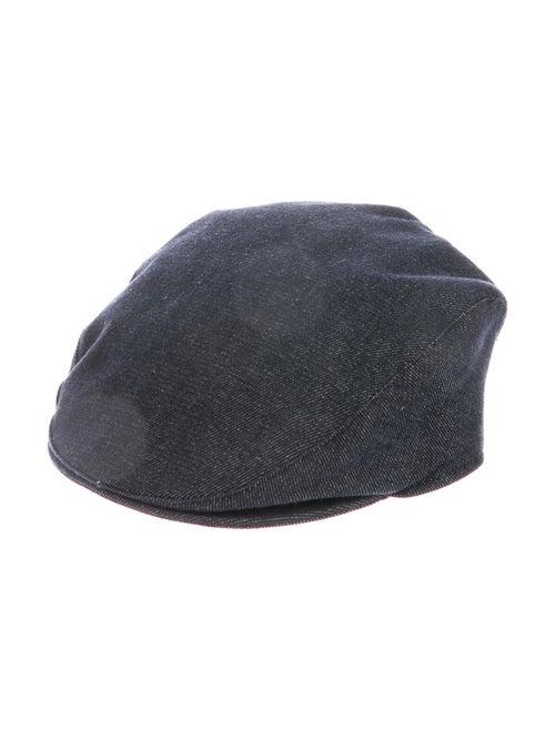 Burberry Denim Newsboy Hat blue