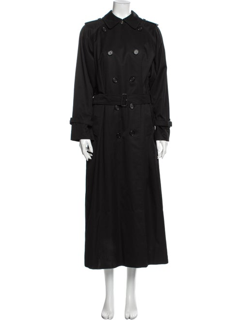 Burberry Vintage Printed Trench Coat Black