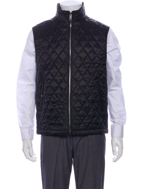 Burberry Quilted Pattern Vest Black