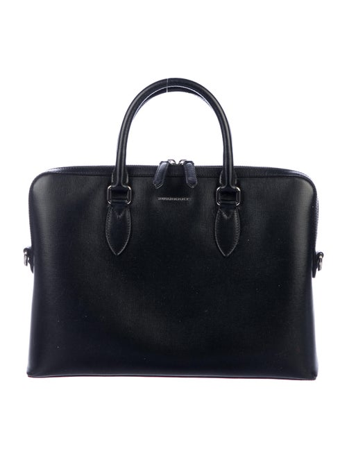 Burberry Leather Laptop Bag Black