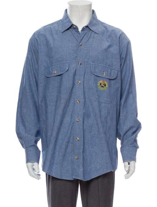 Burberry Vintage Long Sleeve Shirt Blue