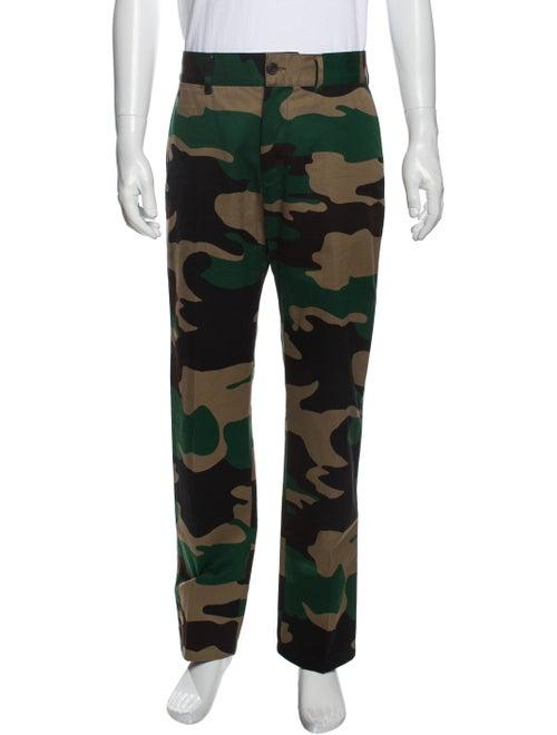 Burberry Printed Cargo Pants Green