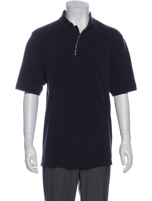 Burberry Polo V-Neck Polo Shirt Blue