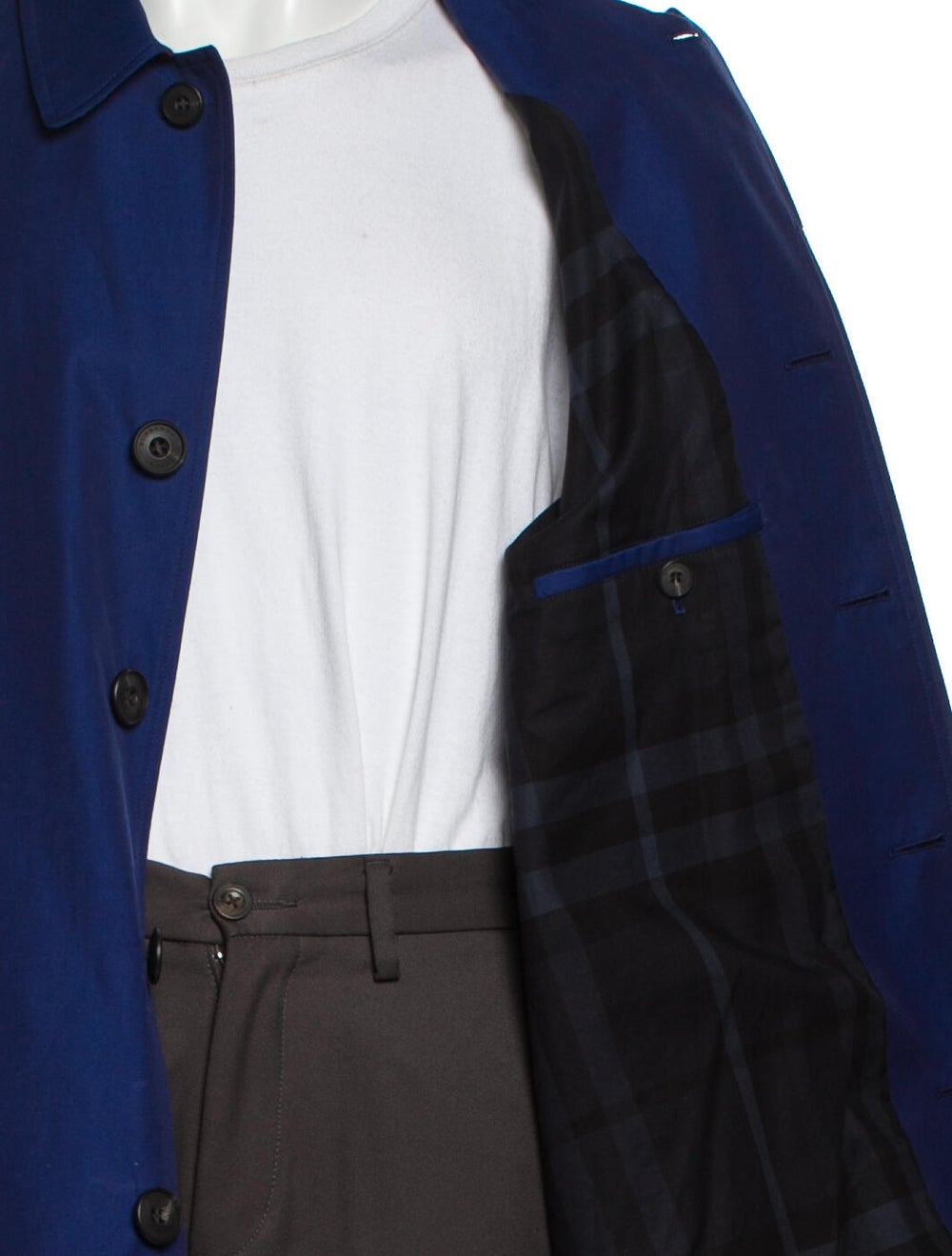 Burberry Trench Coat Blue - image 4