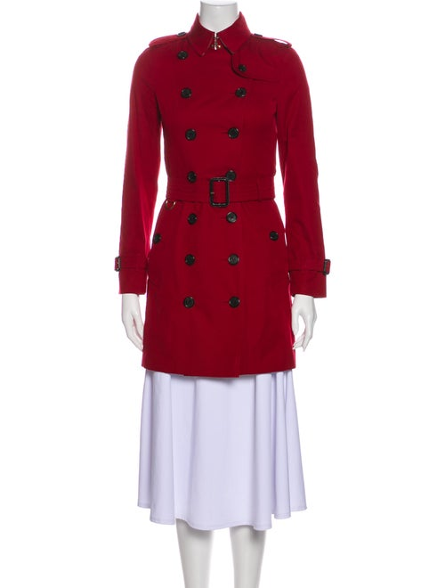 Burberry The Sandringham Trench Coat Red