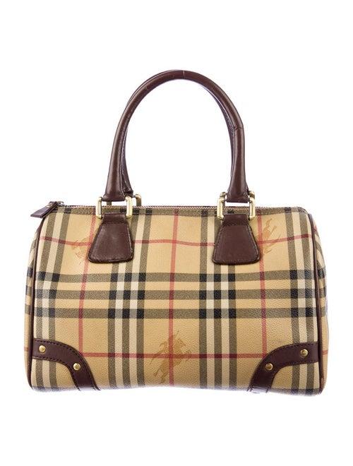 cb6a62d370c9 Burberry Haymarket Bowling Bag - Handbags - BUR20846