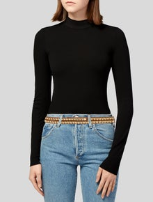 Burberry Skinny Leather Waist Belt