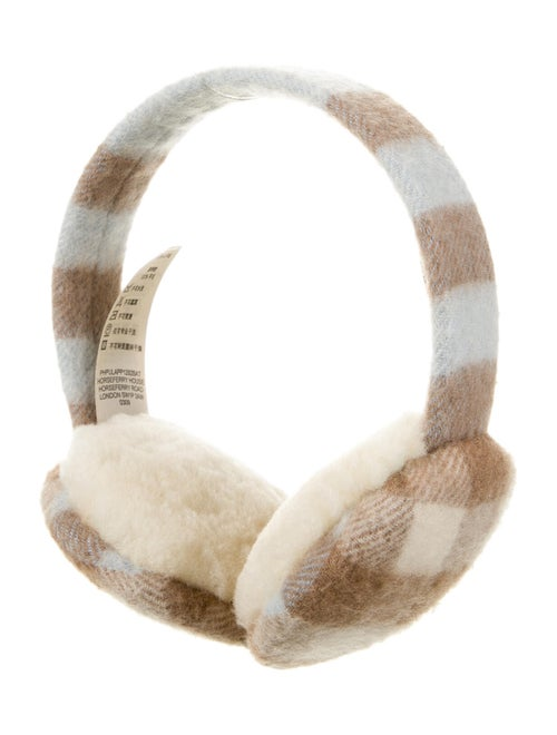 Burberry Cashmere Printed Ear Muffs brown