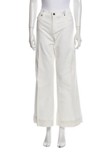 Burberry Mid-Rise Wide Leg Jeans