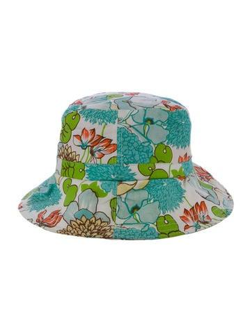 London Floral Print Bucket Hat