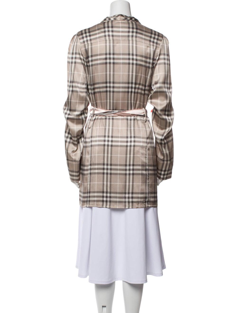 Burberry Silk Plaid Print Robe - image 3