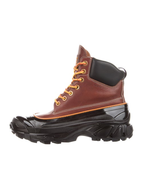 Burberry Arthur Leather Hiking Boots Brown