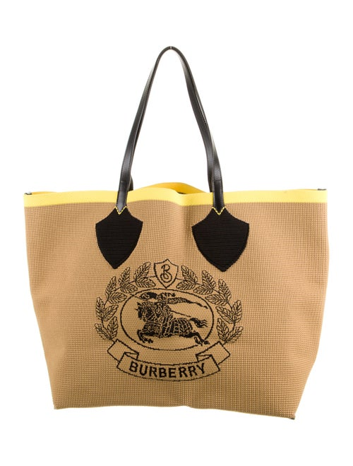 Burberry Large Logo Woven Tote - image 1