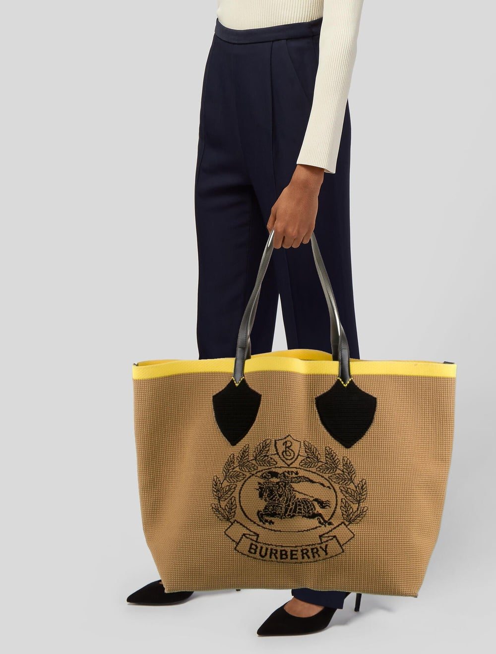 Burberry Large Logo Woven Tote - image 2