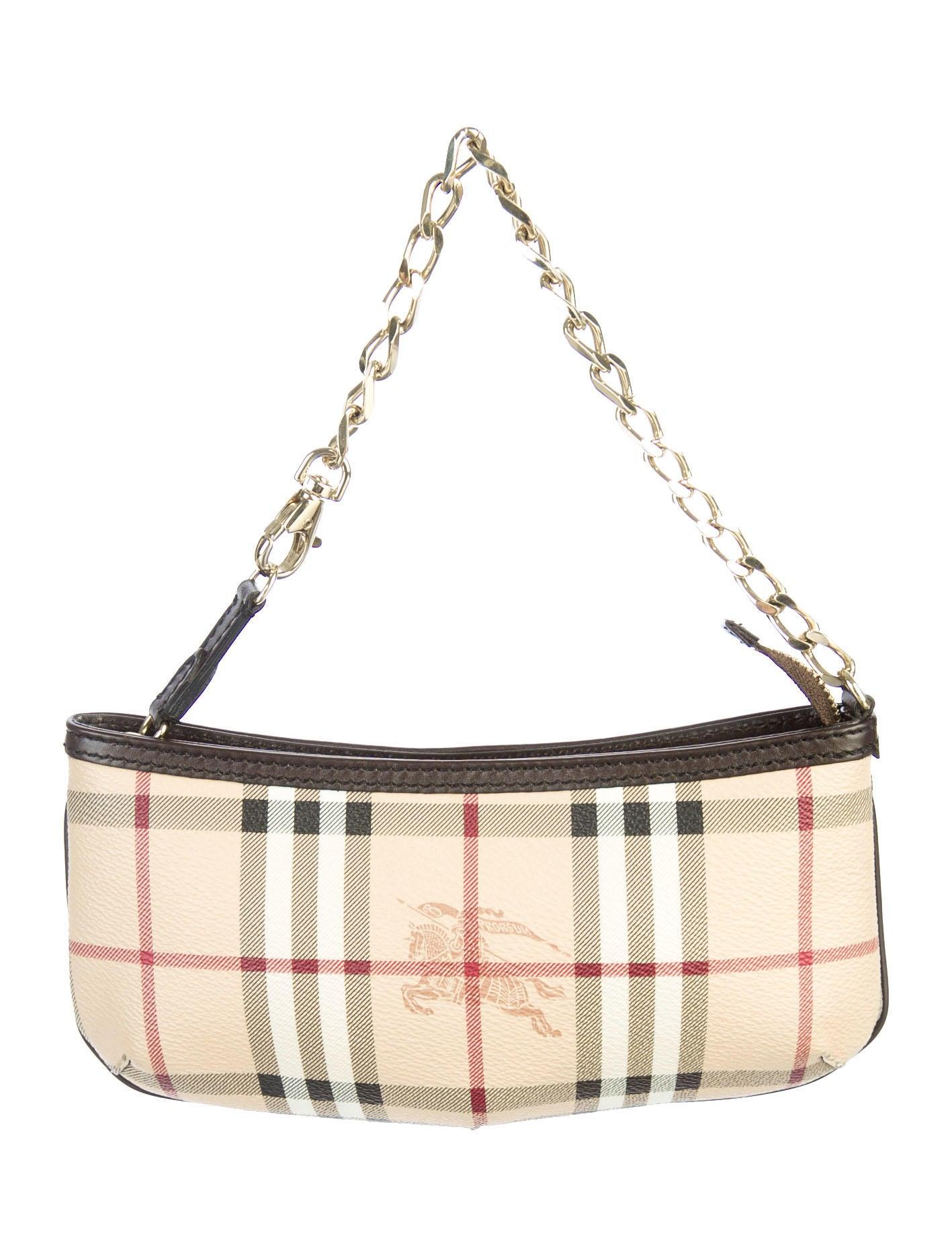 1a1849e5924c Burberry Haymarket Clara Wristlet - Handbags - BUR31291